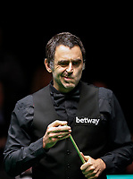 28th November 2019; York, England;  Ronnie O Sullivan of England reacts during the Snooker UK Championship 2019 first round match with Ross Bulman of Ireland in York - Editorial Use