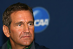 04 December 2008: Head coach Randy Waldrum. The Notre Dame Fighting Irish held a press conference at WakeMed Soccer Park in Cary, NC one day before their NCAA Women's College Cup semifinal game.