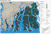 Map of Sunderban, West Bengal, India