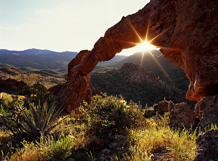 Hewitt Canyon Arch in the Superstition Mountains Wilderness Area, Arizona, United States of America