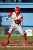Williamsport Crosscutters infielder Edgar Duran (13) during a game vs the Batavia Muckdogs at Dwyer Stadium in Batavia, New York July 26, 2010.   Batavia defeated Williamsport 3-2.  Photo By Mike Janes/Four Seam Images