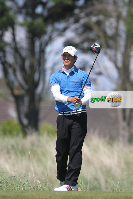 Harry Diamond (Belvoir Park) on the 4rd on the Final Day of the East of Ireland Amateur Open Golf Championship at Co.Louth Golf Club, Baltray....(Photo Jenny Matthews/www.golffile.ie)