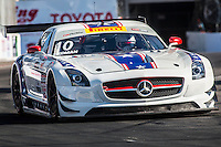 Henrik Hedman, #10 Mercedes-Benz AMG SLS GT3, Pirelli World challenge race, Long Beach Grand Prix, Long Beach, CA, April 2015.  (Photo by Brian Cleary/ www.bcpix.com )