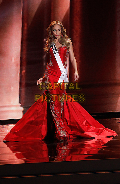 16 December 2015 - Las Vegas, Nevada -  Miss Bolivia, Romina Rocamonje.  2015 Miss Universe Preliminary Competition at Axis at Planet Hollywood Resort and Casino. <br /> CAP/ADM/MJT<br /> &copy; MJT/AdMedia/Capital Pictures