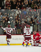 Lewis Zerter-Gossage (Harvard - 77), Clay Anderson (Harvard - 5) - The Harvard University Crimson defeated the visiting Cornell University Big Red on Saturday, November 5, 2016, at the Bright-Landry Hockey Center in Boston, Massachusetts.