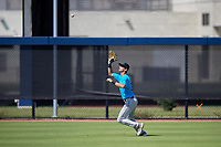 Miami Marlins center fielder Connor Scott (24) during practice before an Instructional League game against the Washington Nationals on September 26, 2019 at FITTEAM Ballpark of The Palm Beaches in Palm Beach, Florida.  (Mike Janes/Four Seam Images)