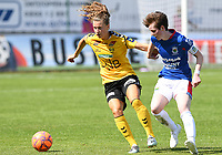 20190807 - DENDERLEEUW, BELGIUM : LSK's Synne Skinnes Hansen pictured defending the ball for Linfield's Kirsty McGuinness (right) during the female soccer game between the Norwegian LSK Kvinner Fotballklubb Ladies and the Northern Irish Linfield ladies FC , the first game for both teams in the Uefa Womens Champions League Qualifying round in group 8 , Wednesday 7 th August 2019 at the Van Roy Stadium in Denderleeuw  , Belgium  .  PHOTO SPORTPIX.BE for NTB  | DAVID CATRY