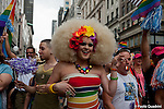 Gay pride parade through the streets of New York City<br />