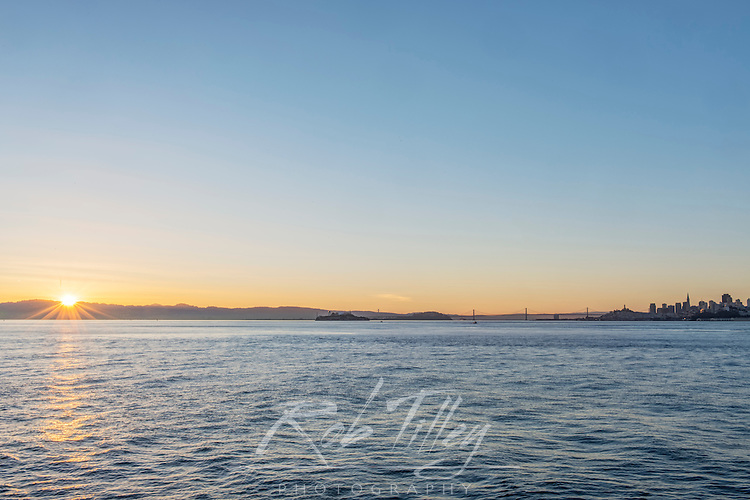 USA, CA, San Francisco, City Skyline at Sunrise