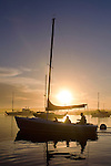 Sailboat in  Morro Bay, California