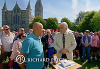 BNPS.co.uk (01202 558833)<br /> Pic: AntiquesRoadshow<br /> <br /> Expert Richard Price gives Roger the good news when the AR visited Salisbury this year.<br /> <br /> £40,000 Antiques Roadshow suprise find heads for auction...<br /> <br /> An extremely rare watch a British seaman bought for £35 as a 21st birthday present in the Far East is now tipped to sell for a whopping £40,000.<br /> <br /> There were only 50 red hand 'Ultraman' Speedmasters ever made, and unknown to Roger he had bought one nearly 50 years ago.<br /> <br /> Now retired, Roger Cooper(71) acquired the Omega Speedmaster new while serving in the Merchant Navy on the steamer 'Chitral' in Hong Kong in 1968.<br /> <br /> He spent £35, almost a month's wage at the time, on the timepiece, buying it from a wholesaler he had become friendly with. But it has proved a shrewd investment as it has increased over 1,000 times in value in the intervening five decades.<br /> <br /> Grandfather of two Mr Cooper, from Havant, Hants, has now decided to auction it with Gardiner Houlgate, of Corsham, Wilts.