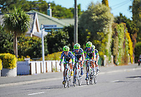 Team Tibco in action during race one of the Trust House Women's Cycle Tour Of New Zealand in Masterton, New Zealand on Wednesday, 18 February 2015. Photo: Dave Lintott / lintottphoto.co.nz