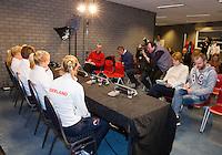 Februari 04, 2015, Apeldoorn, Omnisport, Fed Cup, Netherlands-Slovakia, Predraw persconferentie, team Netherlands<br /> Photo: Tennisimages/Henk Koster