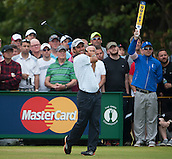 20.07.2014. Hoylake, England. The Open Golf Championship, Final Round.  Edoardo MOLINARI [ITA] tees off