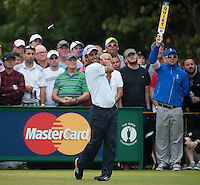 20.07.2014. Hoylake, England. The Open Golf Championship, Final Round.  Edoardo MOLINARI [ITA] tees off