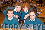 Pupils from Nagle Rice N.S., Milltown at the Credit Union Quiz on Sunday, from left: Dillon ONeill, Tom Keane, Christopher Flynn and David Murphy.