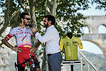 Jesus Herrada Lopez (ESP) Cofidis at sign on before the start of Stage 17 of the 2019 Tour de France running 200km from Pont du Gard to Gap, France. 24th July 2019.<br /> Picture: ASO/Pauline Ballet | Cyclefile<br /> All photos usage must carry mandatory copyright credit (© Cyclefile | ASO/Pauline Ballet)