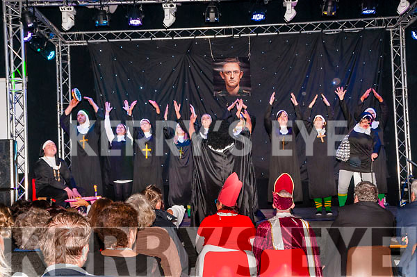 KP&F Lip Synch: Pictured at the Kerry Parents & Friends Lip Synch fundraiser at the Listowel sports complex on Saturday night last were the Kick the Habir group representing the Spar & Spar Express stores who won the popular vote.