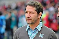 FUSSBALL 1. BUNDESLIGA   SAISON   2012/2013: RELEGATION   RUECKSPIEL 1. FC Kaiserslautern - TSG 1899 Hoffenheim         27.05.2013 Trainer Franco Foda (1. FC Kaiserslautern)