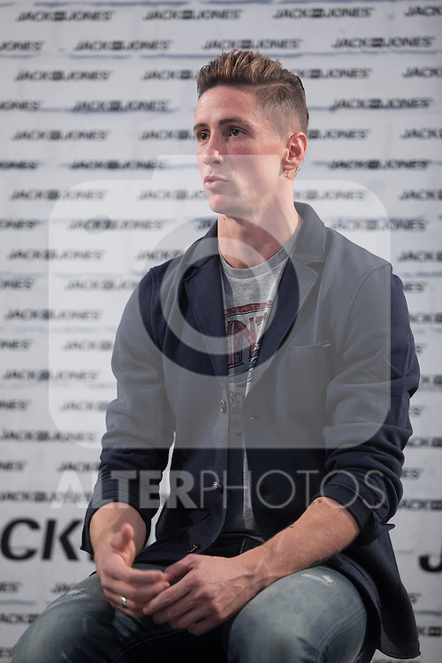 Atletico de Madrid´s Fernando Torres attends a fashion campaign presentation in Madrid, Spain. October 06, 2015. (ALTERPHOTOS/Victor Blanco)