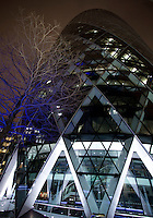 London landmark 30 St Mary Axe, also known as The Guerkin, goes off as part of Earth Hour on Saturday 19 March 2016 where hundreds of millions of people will turn off their lights for one hour at 8.30pm, on the same night, all across the world in a huge, symbolic show of support.