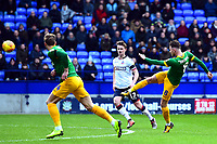 Preston North End's Alan Browne shoots at goal<br /> <br /> Photographer Richard Martin-Roberts/CameraSport<br /> <br /> The EFL Sky Bet Championship - Bolton Wanderers v Preston North End - Saturday 9th February 2019 - University of Bolton Stadium - Bolton<br /> <br /> World Copyright © 2019 CameraSport. All rights reserved. 43 Linden Ave. Countesthorpe. Leicester. England. LE8 5PG - Tel: +44 (0) 116 277 4147 - admin@camerasport.com - www.camerasport.com
