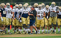 Brian Kelly addresses the team.