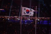 OLYMPIC GAMES: PYEONGCHANG: 09-02-2018, PyeongChang Olympic Stadium, Olympic Games, Opening Ceremony, Korean flag, ©photo Martin de Jong