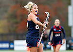 EASTON, MA - NOVEMBER 20:  Katelyn Grazan (28) of Shippensburg University celebrates her goal against LIU Post during the NCAA Division II Field Hockey Championship at WB Mason Stadium on November 20, 2016 in Easton, Massachusetts.  Shippensburg University defeated LIU Post 2-1 for the national title. (Photo by Winslow Townson/NCAA Photos via Getty Images)