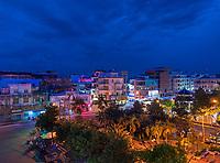Twilight at Chau Doc Mekong Delta, Vietnam