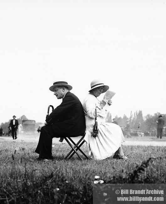 Man and woman at races Auteuil near Paris