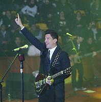 Yahir Othón Parra  durante su concierto en el palenque de la Feria de Leon  Guanajuato el 16 de Enero del 2014..<br /> (*Foto:TiradorTercero/NortePhoto*)