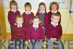 Scoil An Ghleanna, Dingle, Junior Infants pupils enjoying their first day at school on Thursday morning. Front from left: JJ Mac Liam, Leah Ni? Chonchu?ir, Shane  O? Ce?illeachair. Back from left: Finn O? Slattara Dunk, Stanley Mac an Ridire, Hayley Getkate, Louis Mac an tSi?thigh.