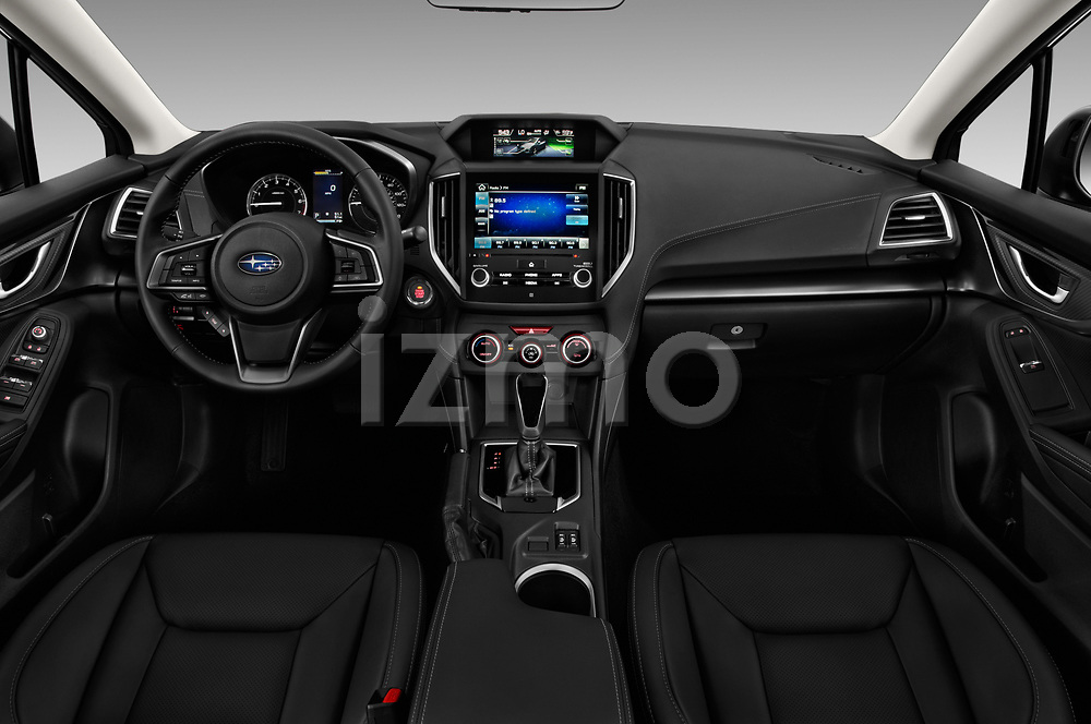 Stock photo of straight dashboard view of 2017 Subaru Impreza 2.0i-Limited-CVT-PZEV 4 Door Sedan Dashboard