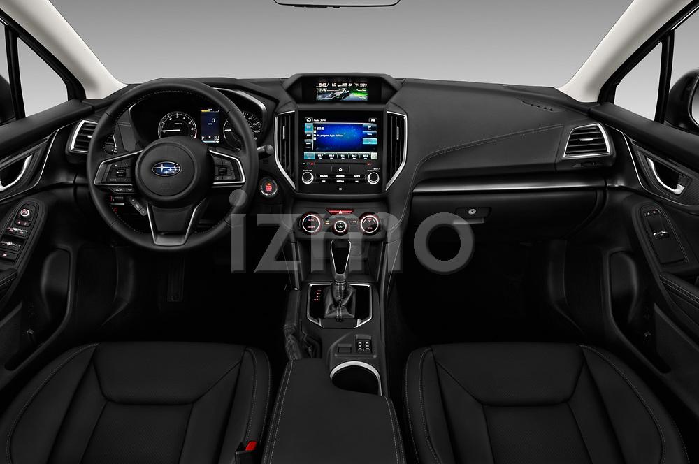 Stock photo of straight dashboard view of 2018 Subaru Impreza 2.0i-Limited-CVT-PZEV 4 Door Sedan Dashboard