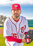28 February 2016: Washington Nationals pitcher Oliver Perez poses for his Spring Training Photo-Day portrait at Space Coast Stadium in Viera, Florida. Mandatory Credit: Ed Wolfstein Photo *** RAW (NEF) Image File Available ***