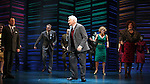 """Brooks Ashmanskas, Dick Latessa, Katie Finneran<br />taking a bow on the  Opening Night Broadway performance Curtain Call for """"PROMISES, PROMISES"""" at the Broadway Theatre, New York City.<br />April 25, 2010"""