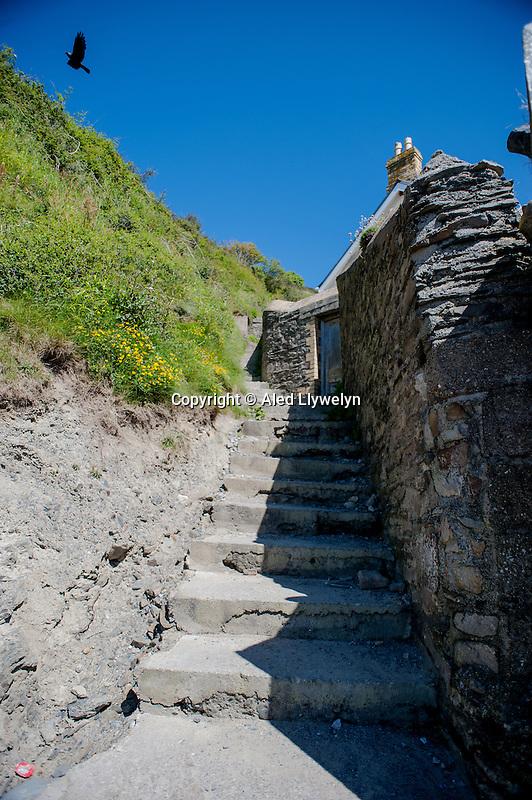 Friday  13  June  2014<br /> <br /> Pictured: Steps Close to Llangrannog Beach <br /> Re: Views of Llangrannog, Ceredigion, Wales UK