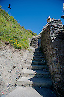 Friday  13  June  2014<br /> <br /> Pictured: Steps Close to Llangrannog Beach <br /> Re: Views of Llangrannog, Ceredigion, Wales UK