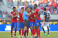 Action photo during the match Costa Rica vs Paraguay, Corresponding Group -A- America Cup Centenary 2016, at Citrus Bowl Stadium<br /> <br /> Foto de accion durante el partido Estados Unidos vs Colombia, Correspondiante al Grupo -A-  de la Copa America Centenario USA 2016 en el Estadio Citrus Bowl, en la foto: Arbitro Patricio Loustau muestra Tarjeta Roja a Kendall Waston de Costa Rica<br /> <br /> <br /> <br /> 04/06/2016/MEXSPORT/Isaac Ortiz.