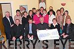 CHEQUE PRESENTATION: Fr Kieran O'Brien and Kathleen Houlihan presented a cheque for EUR63,934.47 to Dean Dan O'Riordan on behalf of the St John's Parish Bazaar Committee at a function in St John's Parish Centre on Tuesday night. Pictured front l-r: Fr Padraig Kennelly, Kathleen Houlihan, Dean Dan O'Riordan, Fr Kieran O'Brien and James Miller. Middle l-r: Rose O'Sullivan, Nora Clifford, Maureen Guerin, Phil Mannion, Kit Ryan, June Burton Kiwi, Margaret Crean, Sr Celine O'Callaghan and Fr Michael O'Leary. Back l-r: John Murrihy, Mary Quillinan, Eileen Murrihy, Jacqui Quillnan and Theresa Barton.   Copyright Kerry's Eye 2008
