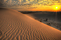 Sunrise Texture - White Sands - New Mexico - White Sands National Monument