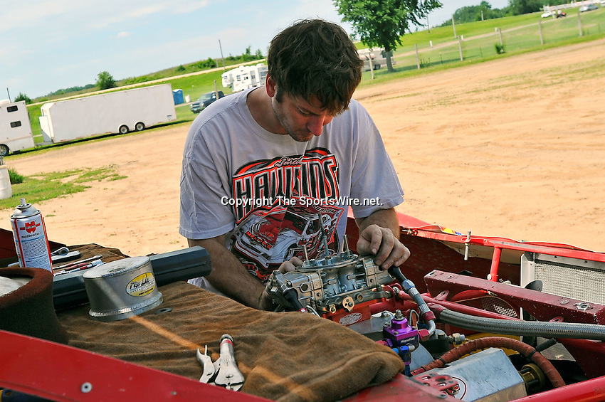 Aug 4, 2011; 1:04:51 PM; New Richmond, WI., USA; The 24th Annual USA Nationals presented by U.S. Steel Corporation running a 50,000-to-win World of Outlaws Dirt Late Model Series sanctioned event at Cedar Lake Speedway.  Mandatory Credit: (thesportswire.net)