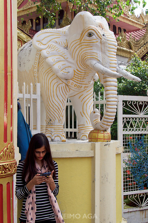 Malaysia, Penang. Dhammikarama Burmese Buddhist Temple
