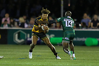 Guy Armitage of Ealing Trailfinders and Topsy Ojo of London Irish during the Greene King IPA Championship match between Ealing Trailfinders and London Irish Rugby Football Club  at Castle Bar, West Ealing, England  on 1 September 2018. Photo by David Horn.