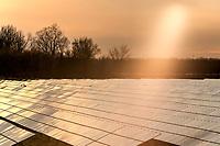 Sun shining on the Enbridge Solar Farm, located on Blackwell Sideroad