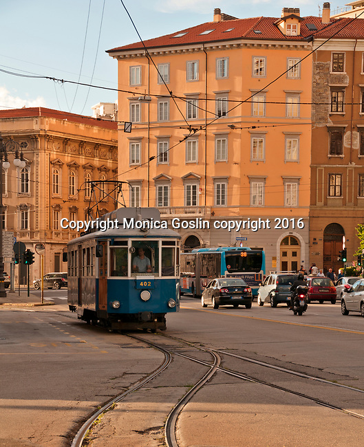 Opicina Tram in downtown, in operation since 1902, this tram connects Trieste to Opicina on a 5km long route