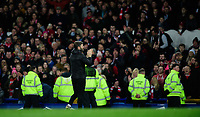 Lincoln City's assistant manager Nicky Cowley applauds the fans at the final whistle<br /> <br /> Photographer Chris Vaughan/CameraSport<br /> <br /> Emirates FA Cup Third Round - Everton v Lincoln City - Saturday 5th January 2019 - Goodison Park - Liverpool<br />  <br /> World Copyright &copy; 2019 CameraSport. All rights reserved. 43 Linden Ave. Countesthorpe. Leicester. England. LE8 5PG - Tel: +44 (0) 116 277 4147 - admin@camerasport.com - www.camerasport.com