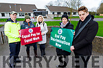 "Staff of Coláiste Gleann Li on strike for ""Equal Pay for Equal Work"" and ""In Pay Discrimation Now"".<br /> Front l to r: Muirna Egan and Liam McGill<br /> Back l to r: Anthony Dineen, Edwina Hayes and Ciara Stack."