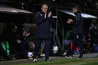 Dagenham assistant manager Terry Harris applauds in the 54th minute in memory of Ian Chalkley during Dagenham & Redbridge vs Maidenhead United, Vanarama National League Football at the Chigwell Construction Stadium on 7th December 2019